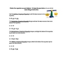 Properties of Equality Handout