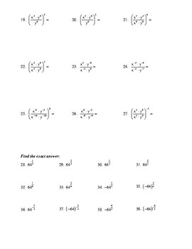 Properties of Exponentiation