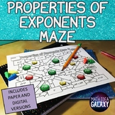 Properties of Exponents Maze