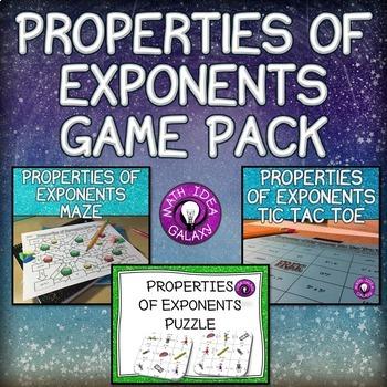 Properties of Exponents Activities Pack