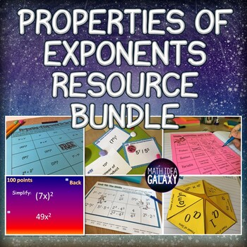 Properties of Exponents Activities and Games