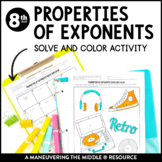 Properties of Exponents: Solve and Color