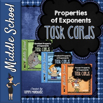 Properties of Exponents - 90 Task Cards!