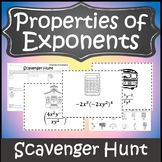 Properties of Exponents Game {Laws of Exponents Game} {Algebra Scavenger Hunt}