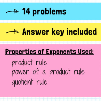 Properties of Exponents Activity