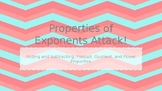 Properties of Exponents Attack! Review Game