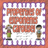 Properties of Exponents Carousel