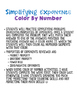 Properties of Exponents Color By Number