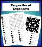 Properties of Exponents Color Worksheet