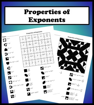 properties of exponents color worksheet by aric thomas  tpt