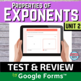 Properties of Exponents Digital Distance Learning Test and