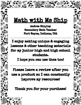 Properties of Exponents Doodle Notes