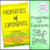 Properties of Exponents Flip Book - Algebra 1 & HS Geometry