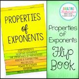 Properties of Exponents Flip Book - Algebra 1 & HS Geometry