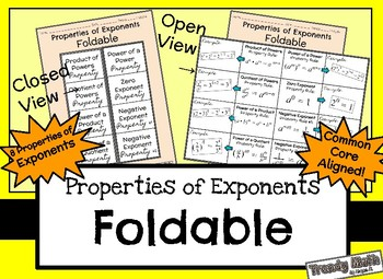 Properties of Exponents Foldable