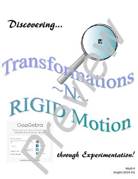 Discovering Transformations in RIGID Motion with Geogebra (Preview)
