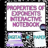 Properties of Exponents Interactive Notebook