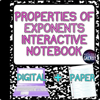 Properties of Exponents Interactive Notebook