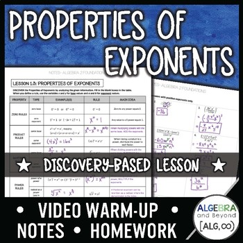 Properties of Exponents Lesson