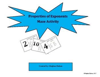 Properties of Exponents Maze Activity