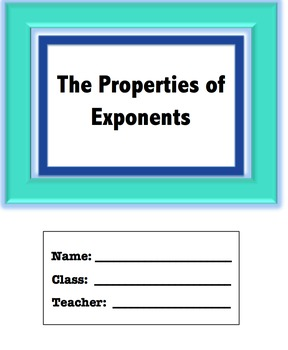 Properties of Exponents Packet