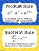 Properties of Exponents Posters