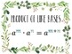 Properties of Exponents Posters Farmhouse Style