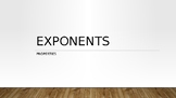 Properties of Exponents PowerPoint