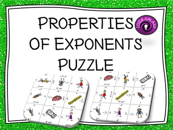 Properties of Exponents Puzzle