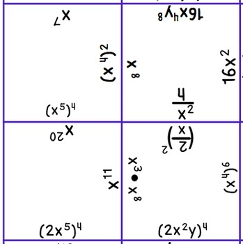 Exponents Puzzle (8.EE.1)