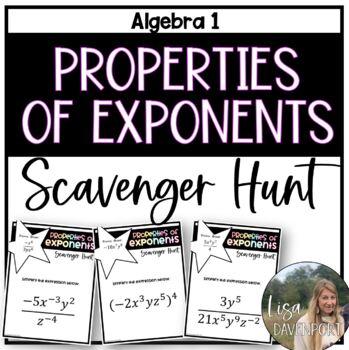 Properties of Exponents (Scavenger Hunt)