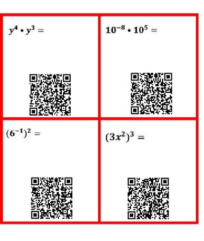 Properties of Exponents Task Cards