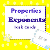 Properties of Exponents Task Cards Review