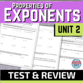 Properties of Exponents Test and Review Guide