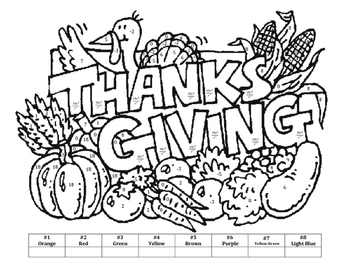 properties of exponents thanksgiving color by number - Thanksgiving Pictures To Color 2