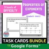Properties of Exponents Unit Digital Distance Learning Tas