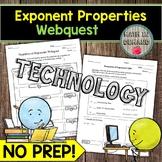 Exponent Properties Webquest