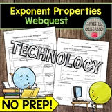 Exponent Properties Webquest Math Distance Learning