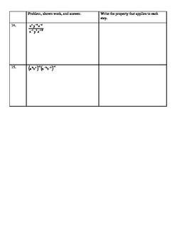 Properties of Exponents Worksheet