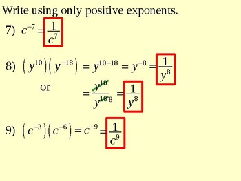 Properties of Exponents and Powers