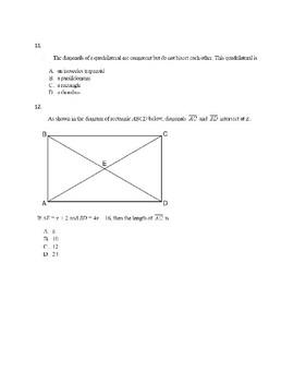 Properties of Geometric Figures Practice