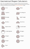 Properties of Geometric Shapes