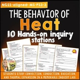 Heat: Hands On Inquiry Stations : Conduction Convection Radiation NGSS editable