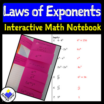 Properties of Integer Exponents Foldable for Interactive Notebook