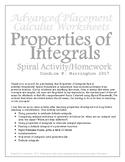 Properties of Integrals Spiral Activity/Homework: With Solutions