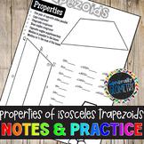 Properties of Isosceles Trapezoids Doodle Notes & Practice