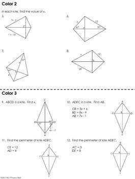 kites coloring worksheet by mrs e teaches math tpt. Black Bedroom Furniture Sets. Home Design Ideas