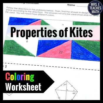 Kites Coloring Worksheet