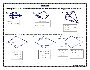 Kites Worksheet Geometry Answers - Breadandhearth