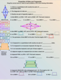 Properties of Kites and Trapezoids